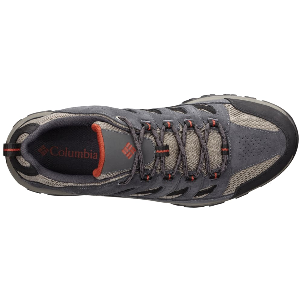 COLUMBIA Men's Crestwood Low Hiking Shoes, Wide - QUARRY