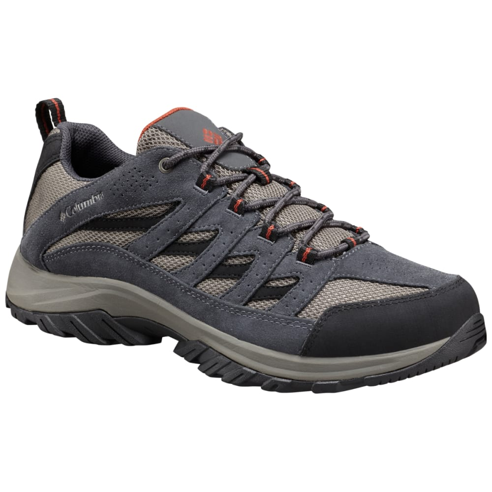 COLUMBIA Men's Crestwood Low Hiking Shoes, Wide - QUARRY, RUSTY