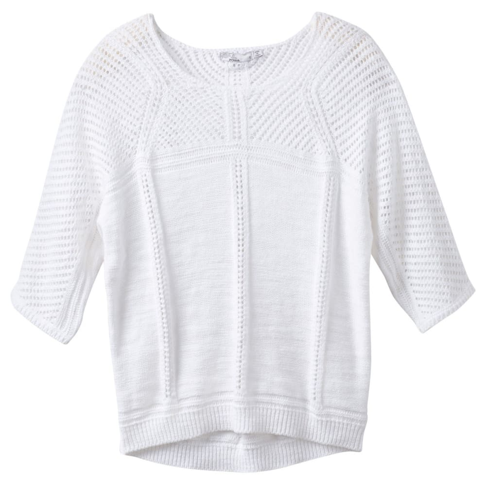 PRANA Women's Getup Sweater - WHITE