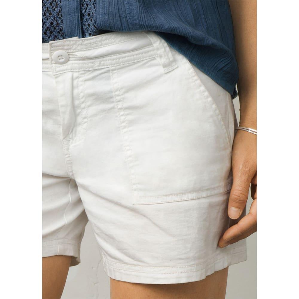 "PRANA Women's Tess Short - 5"" Inseam - WHITE"