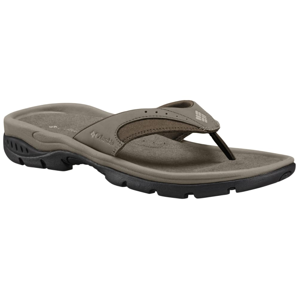 COLUMBIA Men's Tango Thong III Flip Flops - PEBBLE