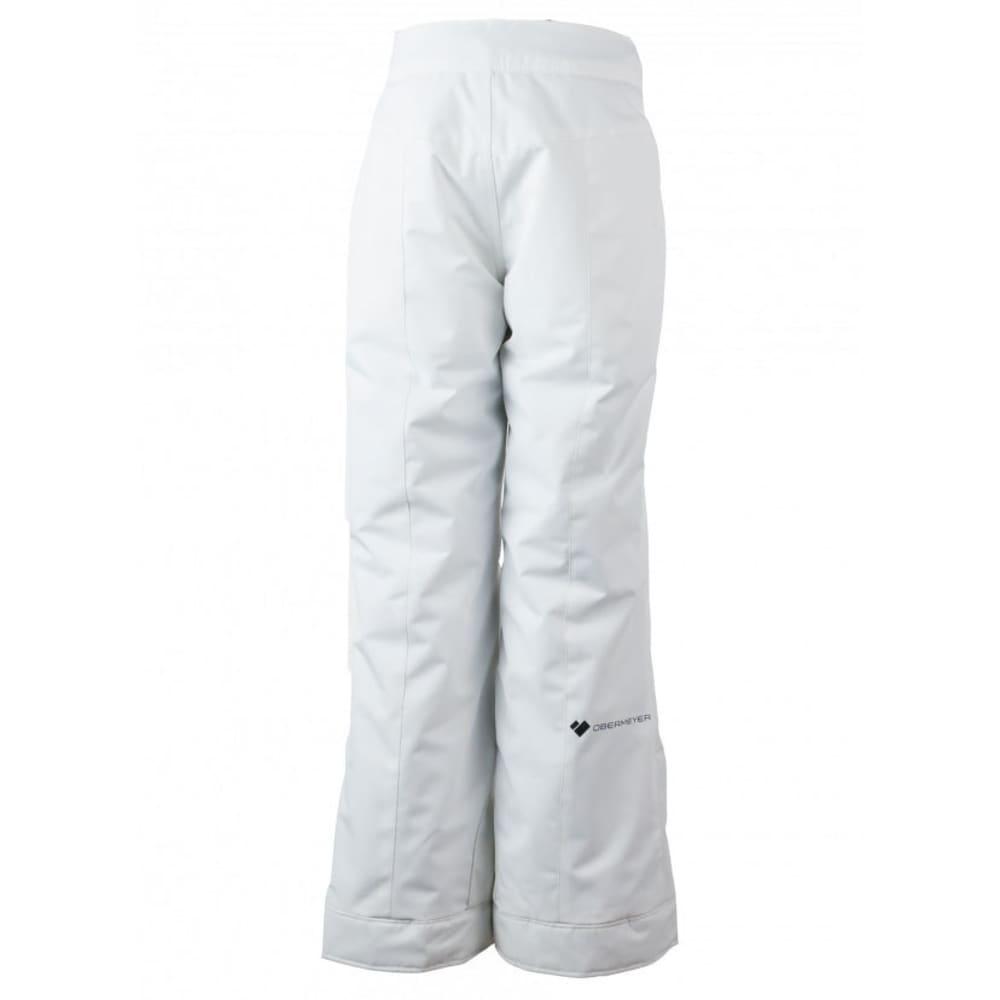 OBERMEYER Girls' Brooke Ski Pants - WHITE