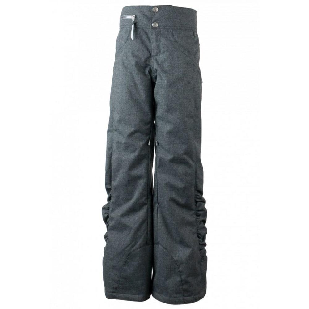 OBERMEYER Girls' Jessi Ski Pants - LT HEATHER GREY