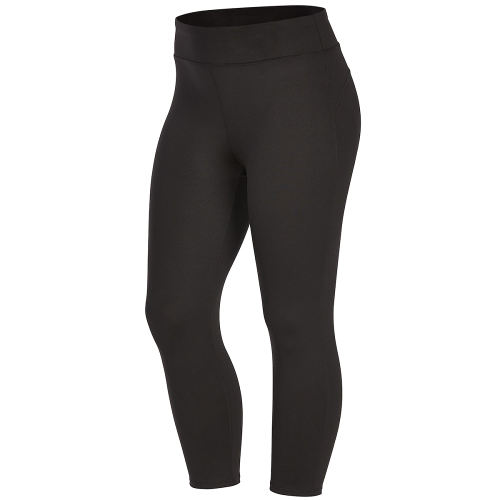EMS Women's Techwick Fusion Capri Leggings - BLACK