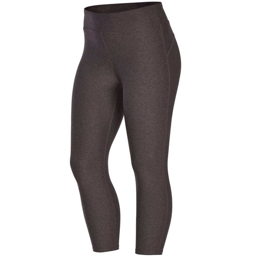 EMS Women's Techwick Fusion Capri Leggings - DK GREY HEATHER