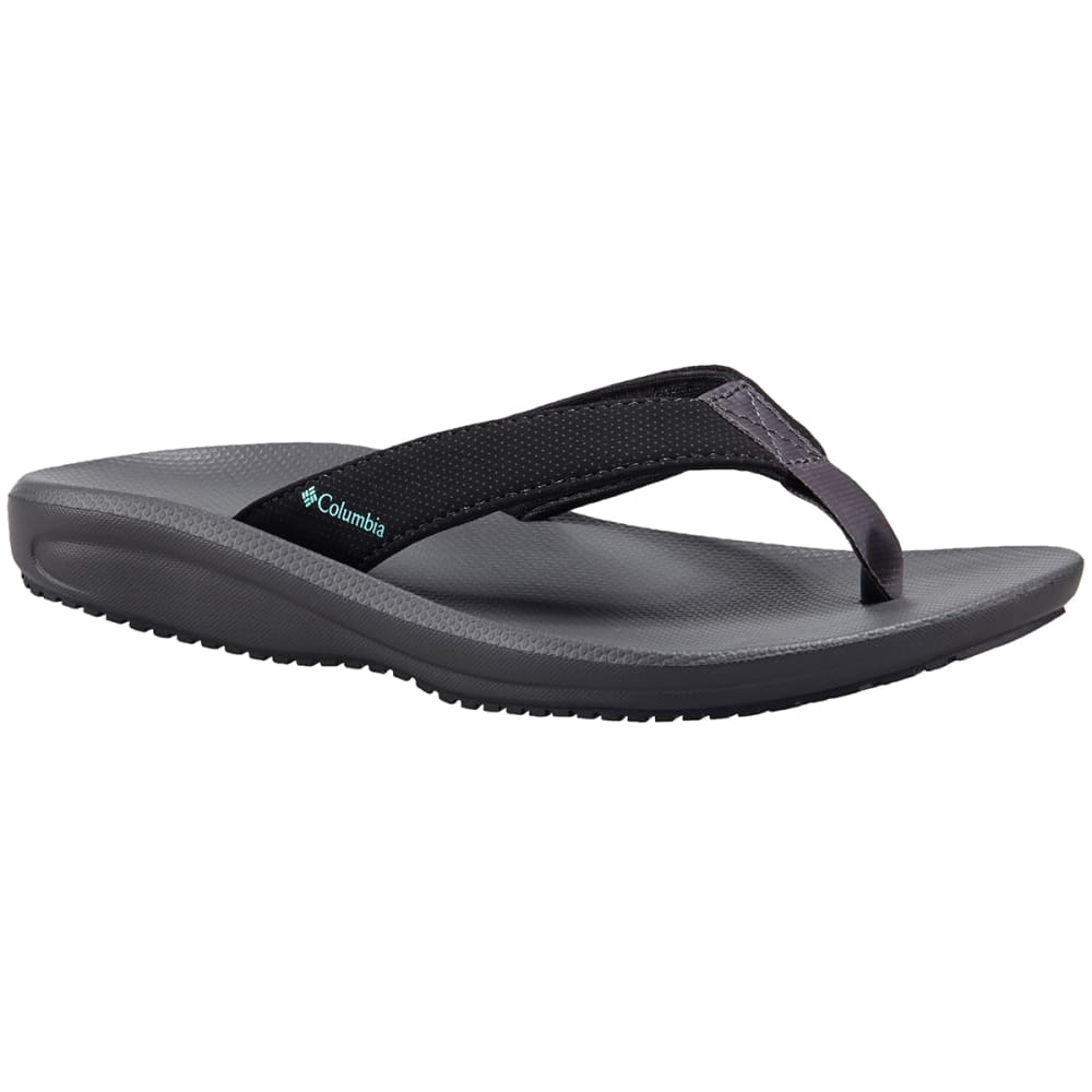 COLUMBIA Women's Barraca Flip Sandals - BLACK