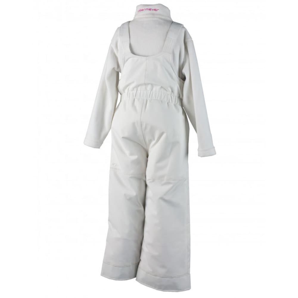 OBERMEYER Girls' Snoverall Pants - WHITE