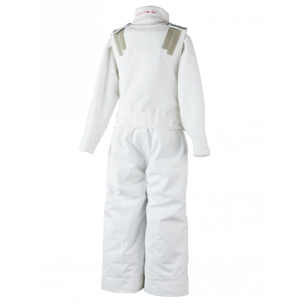 OBERMEYER Girls' Ober-All Bib Snow Pants - WHITE