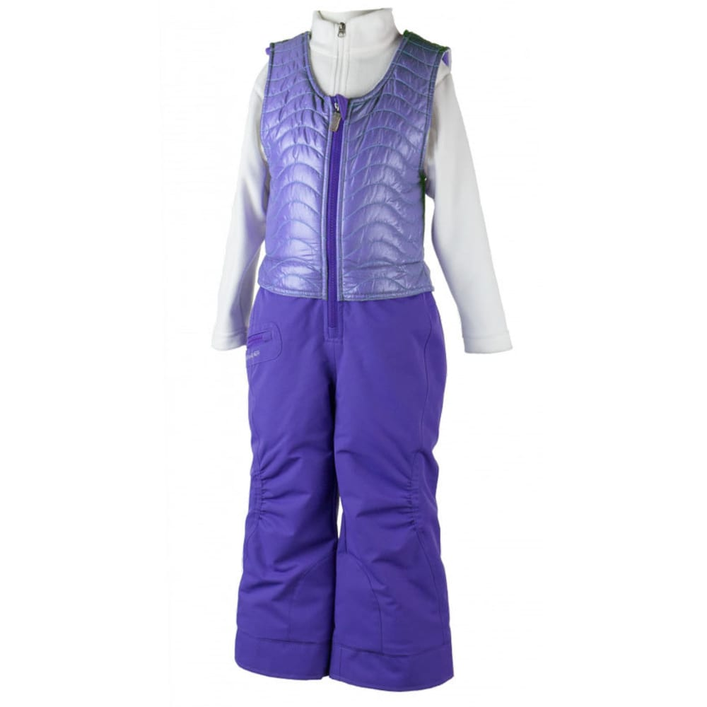 OBERMEYER Girls' Ober-All Bib Snow Pants - GRAPESICLE