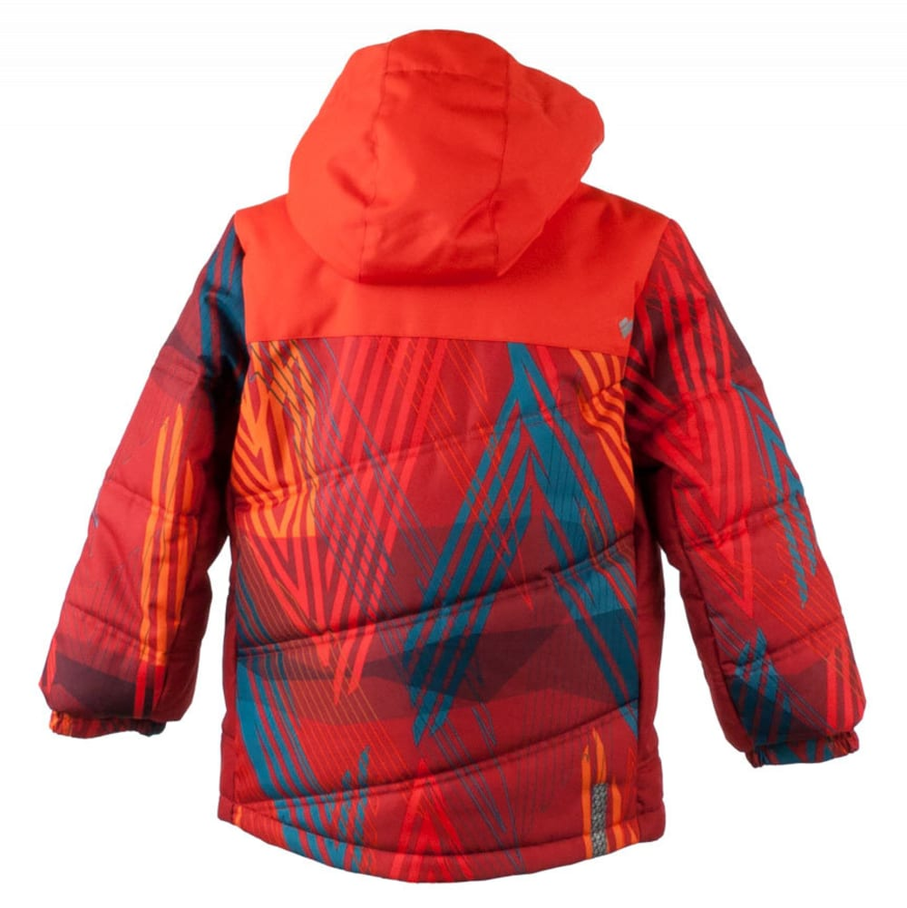 OBERMEYER Boys' Hawk Jacket - THUNDER RED