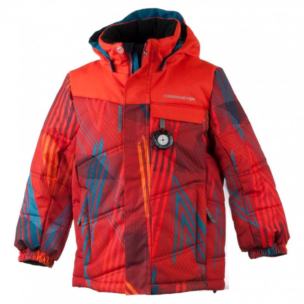 OBERMEYER Boys' Hawk Jacket - THUNDER RED