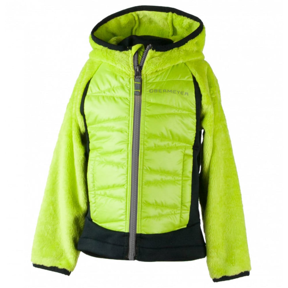 OBERMEYER Boys' Gamma Hybrid Insulator Jacket - GREEN FLASH