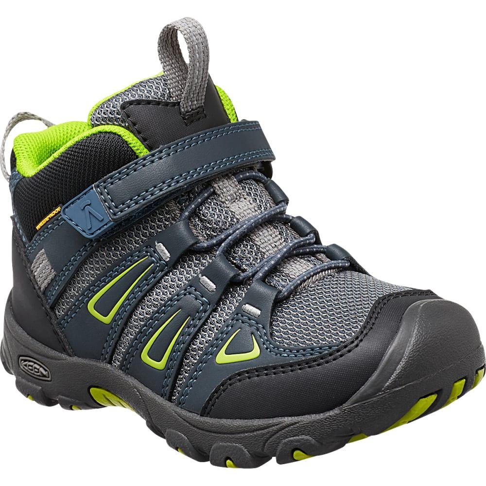 KEEN Little Kids' Oakridge Waterproof Mid Hiking Boots 8