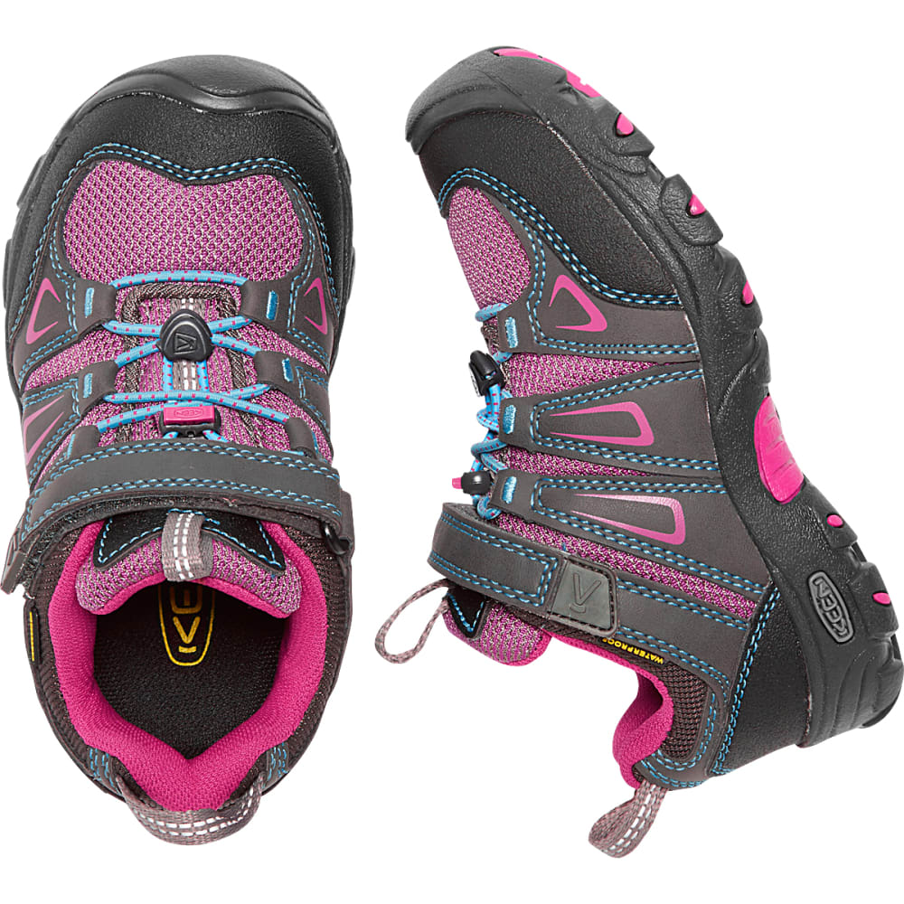 KEEN Little Kids' Oakridge Waterproof Hiking Shoes - MAGNET/VERY BERRY