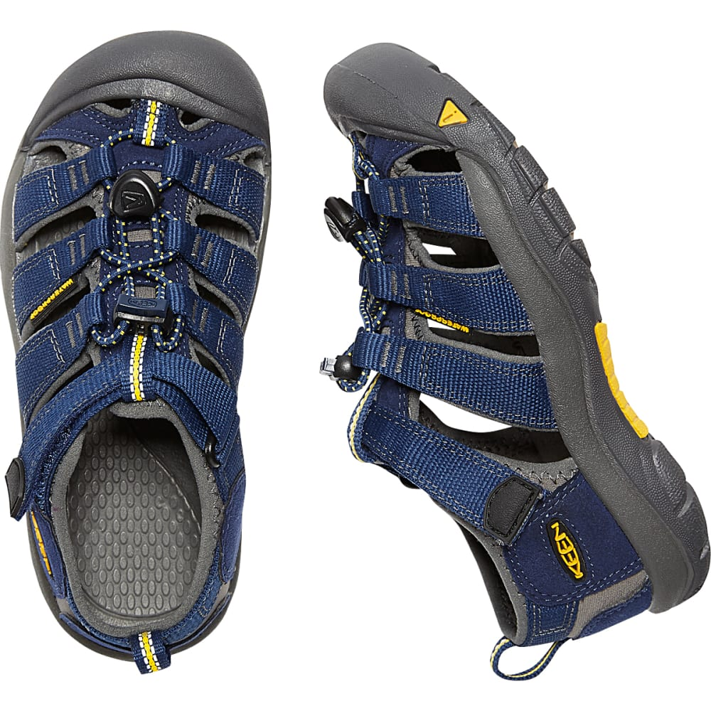 KEEN Big Kids' Newport H2 Sandals - BLUE DEPTHS/GARGOYLE