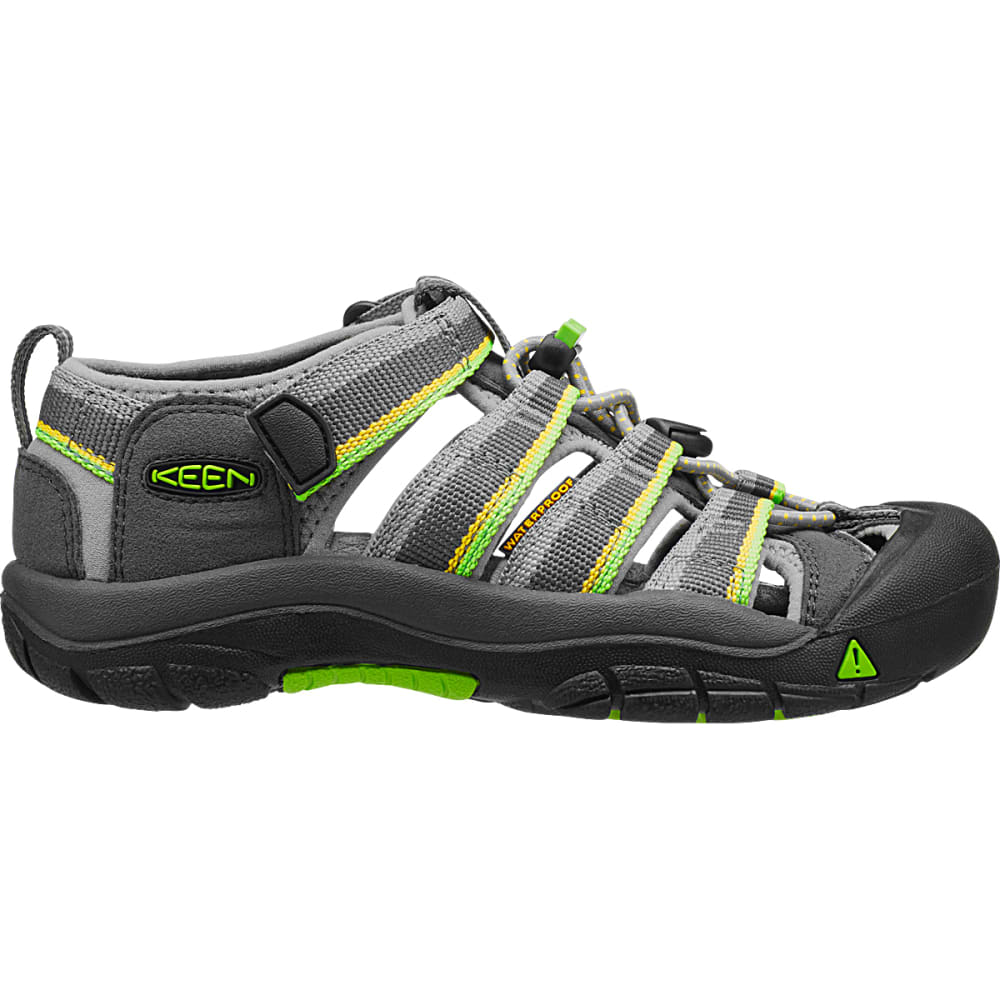 KEEN Little Kids' Newport H2 Sandals - RACER GRAY/LIME