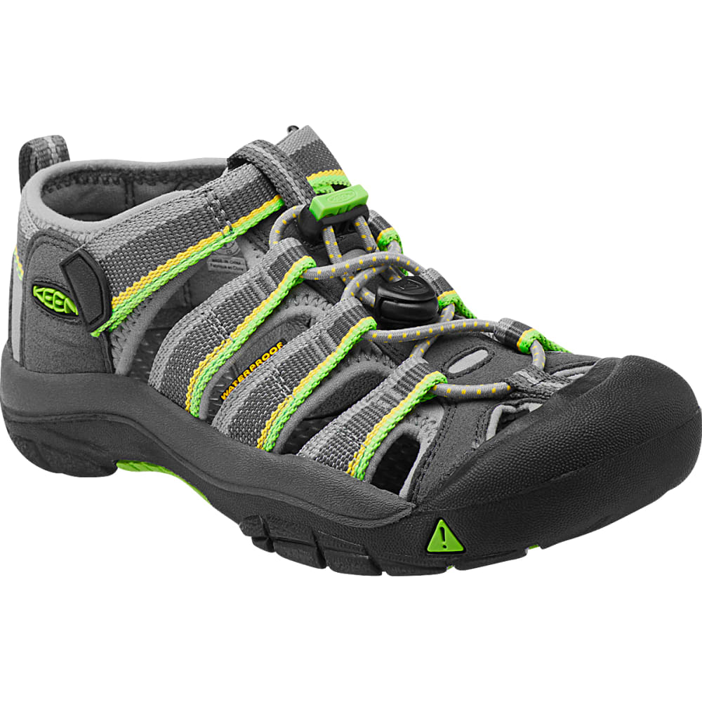 KEEN Little Kids' Newport H2 Sandals - RACER GRAY/LIME