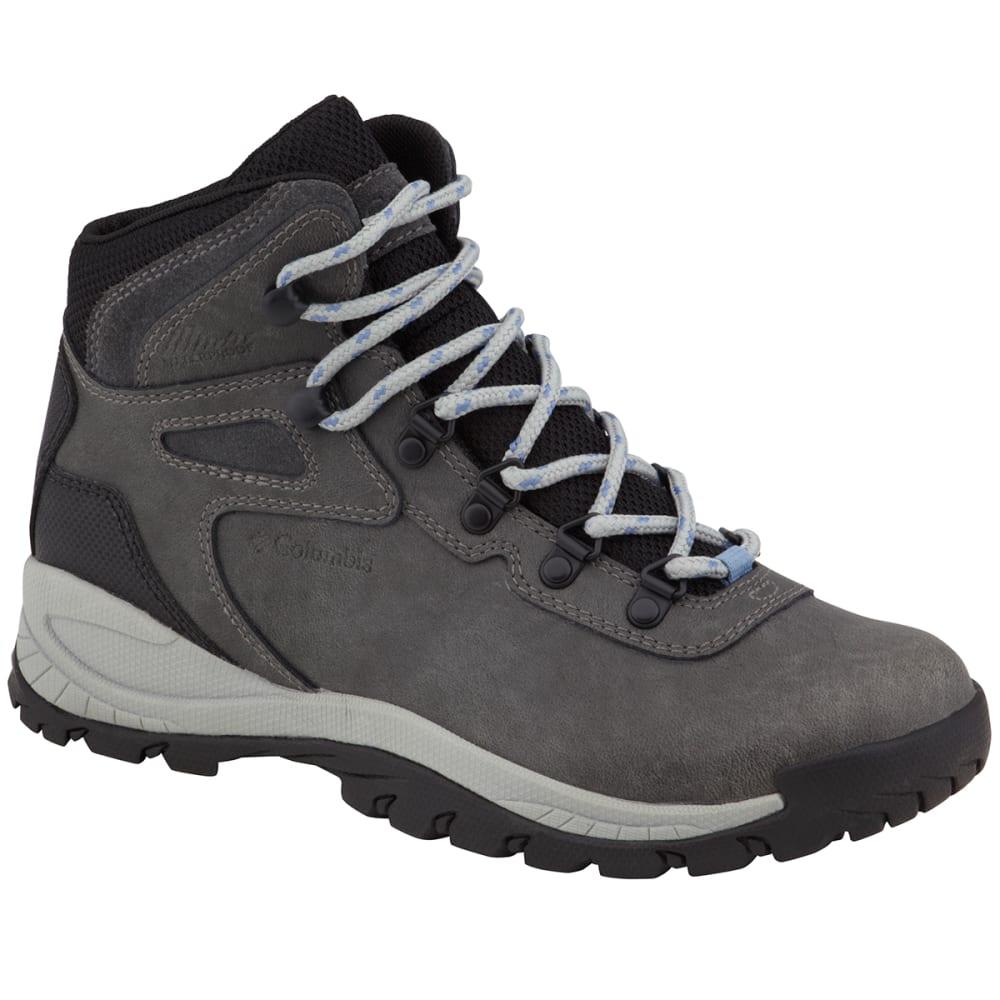 COLUMBIA Women's Newton Ridge Plus Mid Waterproof Hiking Boots, Wide - COOL WAVE