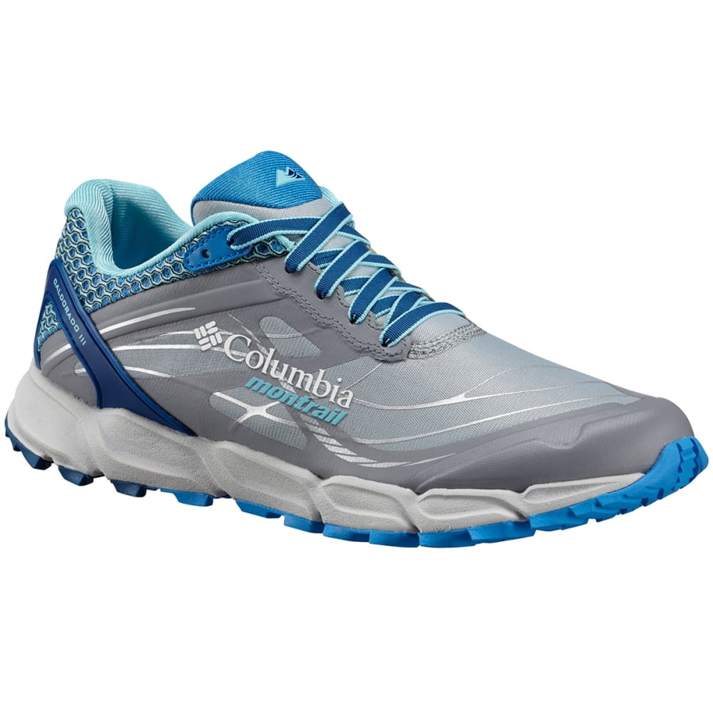 COLUMBIA Women's Caldorado III Trail Running Shoes - EARL GREY/BLUE