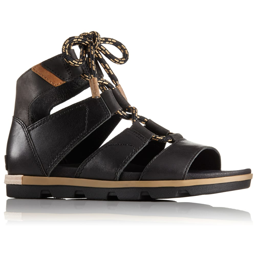SOREL Women's Torpeda Lace II Sandals - BLACK