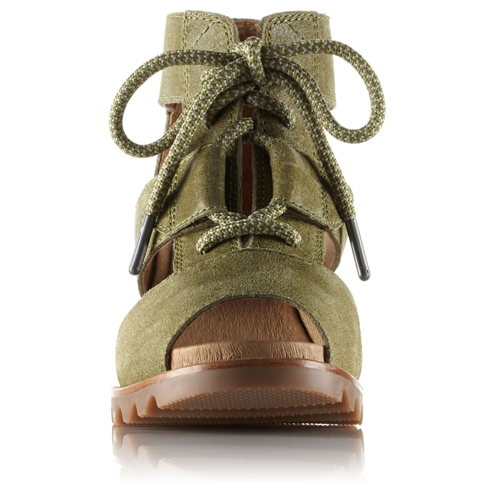 SOREL Women's Joanie Lace Wedge Sandals - OLIVE DRAB