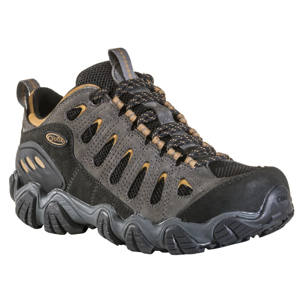 OBOZ Men's Sawtooth Low Waterproof Hiking Shoes - SHADOW/BURLAP