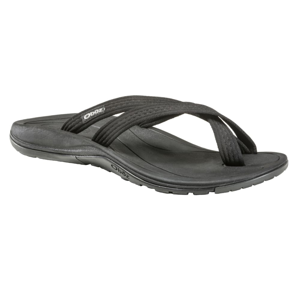 OBOZ Men's Ocoee Flip Sandals - BLACK
