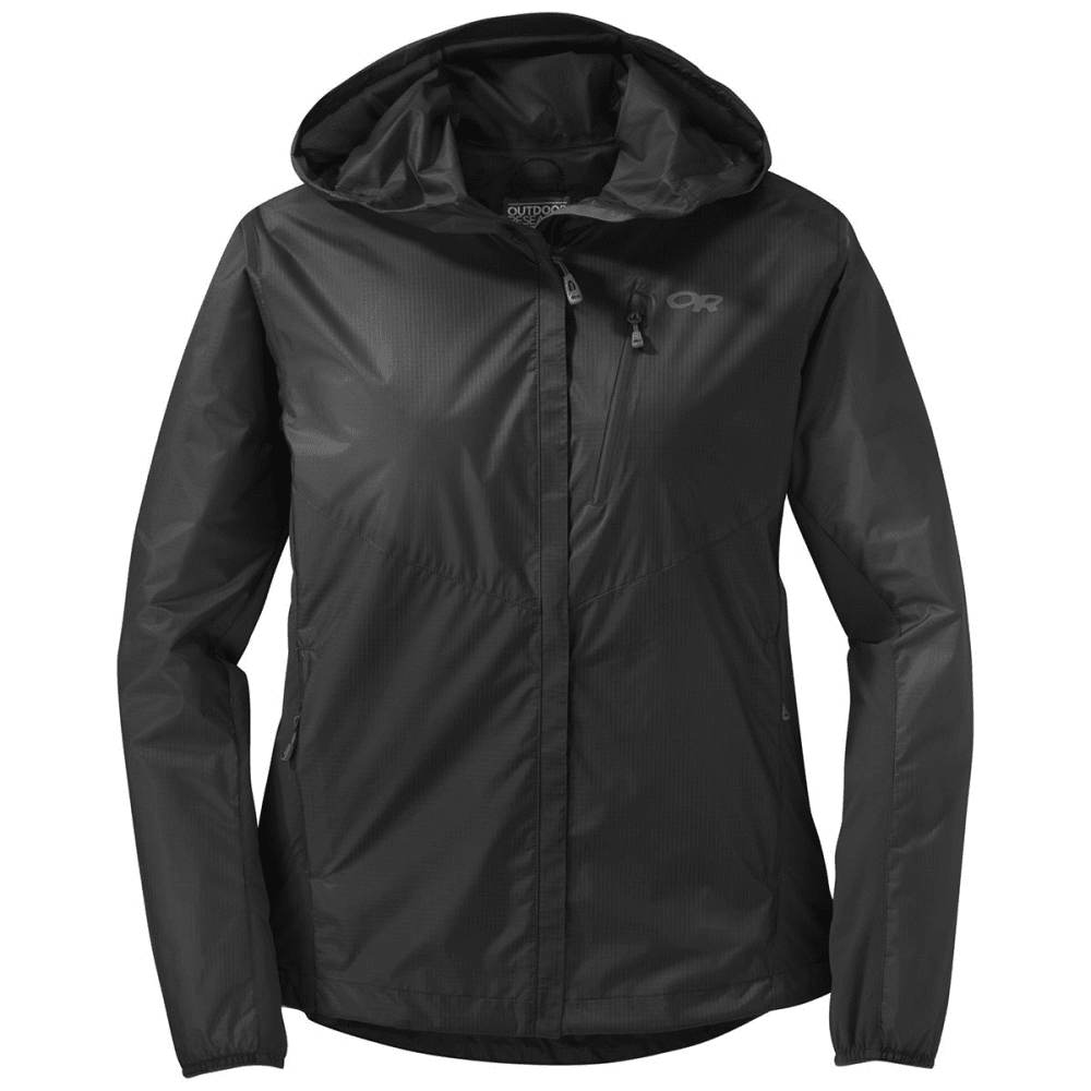 OUTDOOR RESEARCH Women's Helium Hybrid Hooded Jacket - BLACK-001
