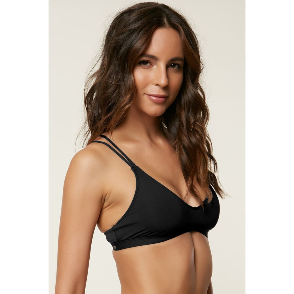 O'NEILL Women's Salt Water Solid Bralette Top - BLACK