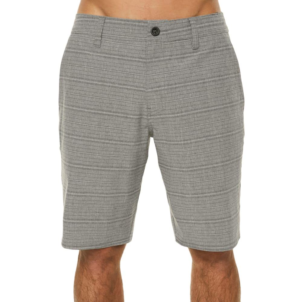 O'NEILL Guys' Locked Stripe Hybrid Shorts - GREY-GRY