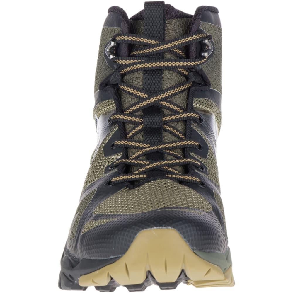 MERRELL Men's MQM Flex Mid Waterproof Hiking Boots - DUSTY OLIVE