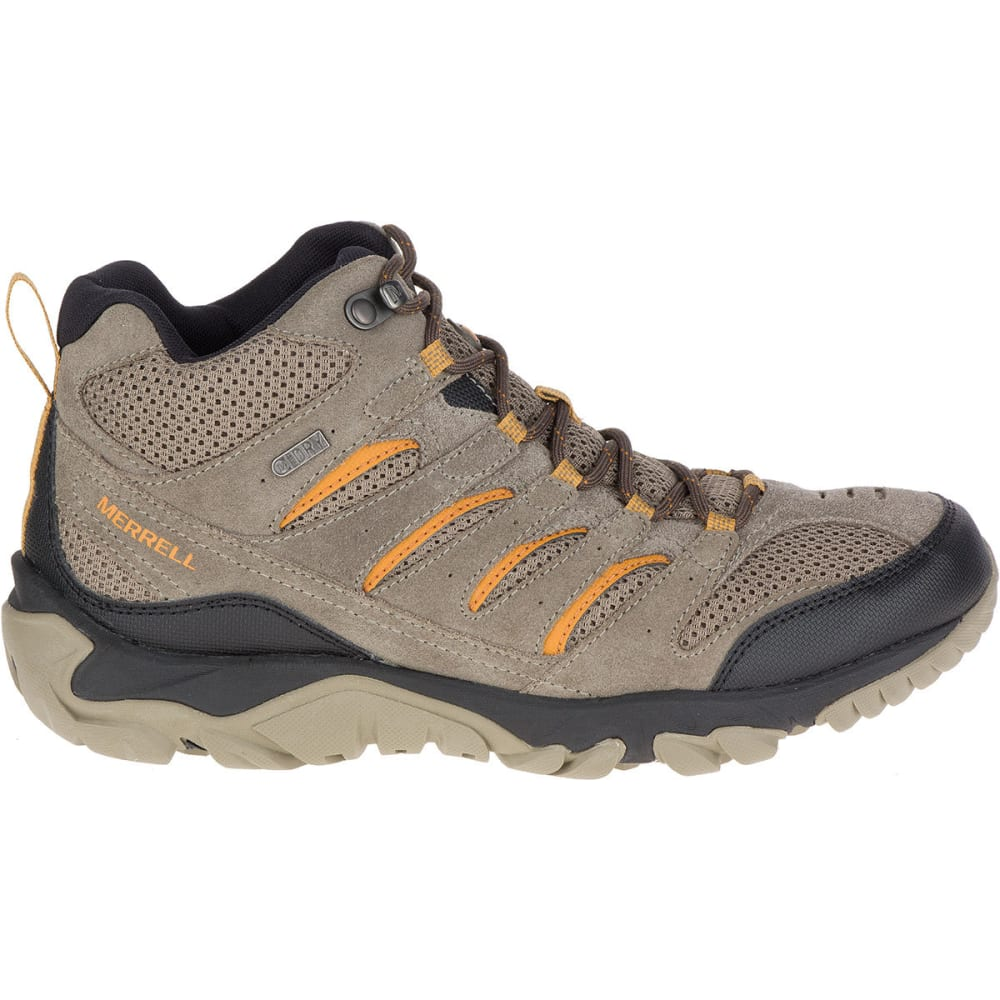 MERRELL Men's White Pine Mid Ventilator Waterproof Hiking Boots - BOULDER
