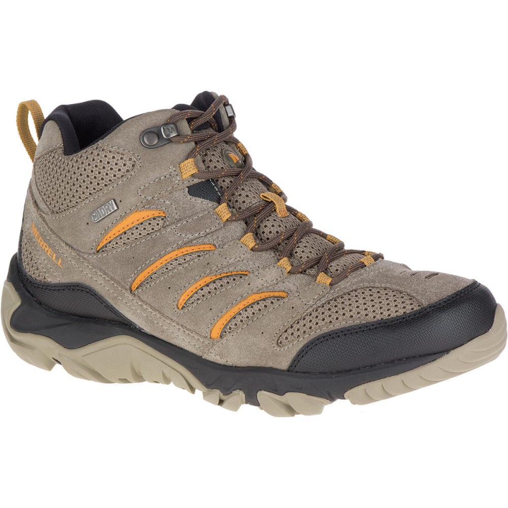 Merrell Men's White Pine Mid Ventilator Waterproof Hiking Boots - Brown