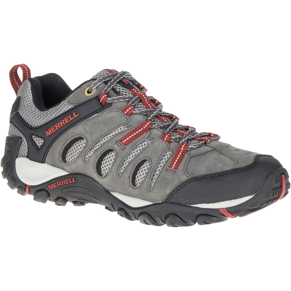 MERRELL Men's Crosslander Vent Low Hiking Shoes - GRANITE/RED