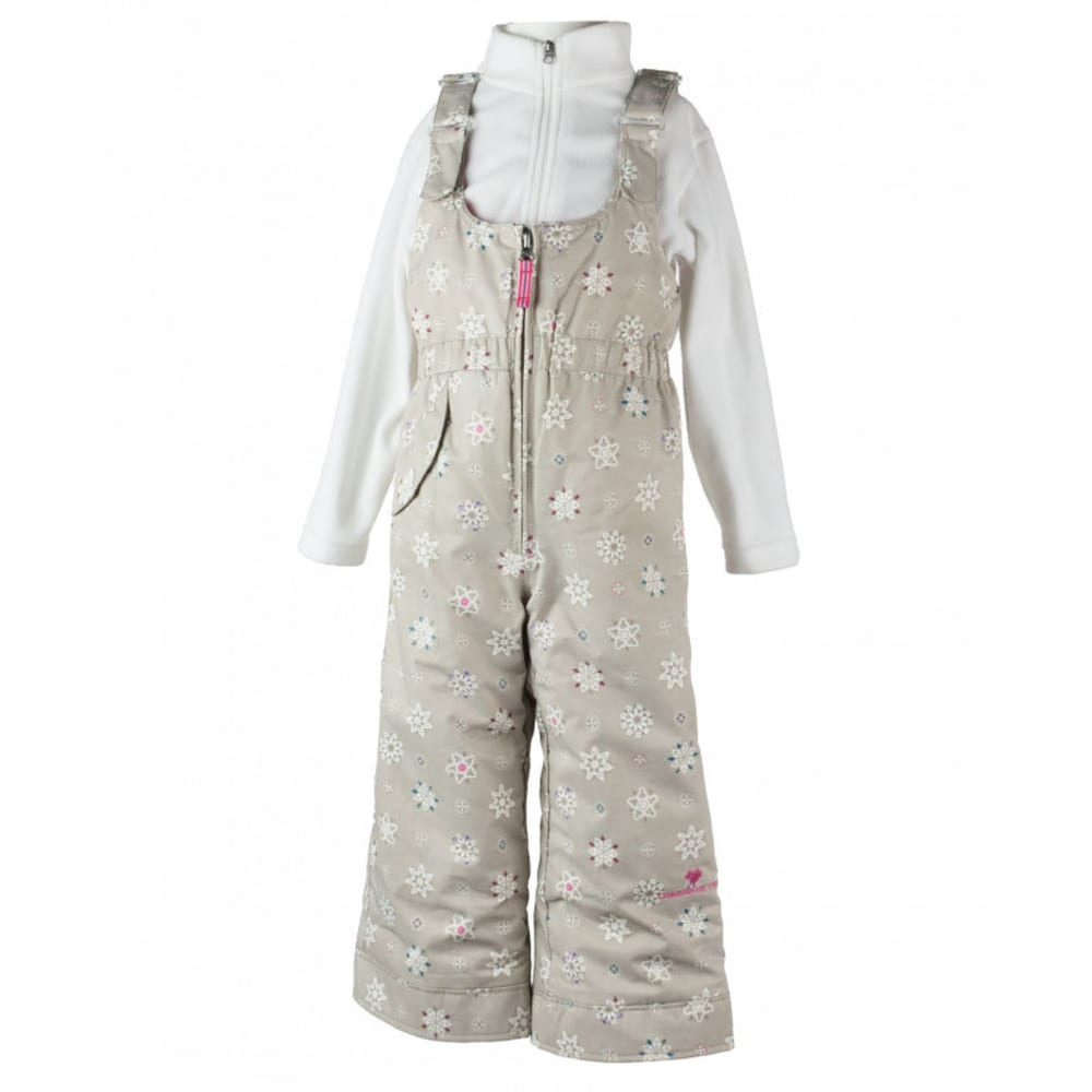 OBERMEYER Girls' Snoverall Print Snow Pants - FROST CRYSTALS
