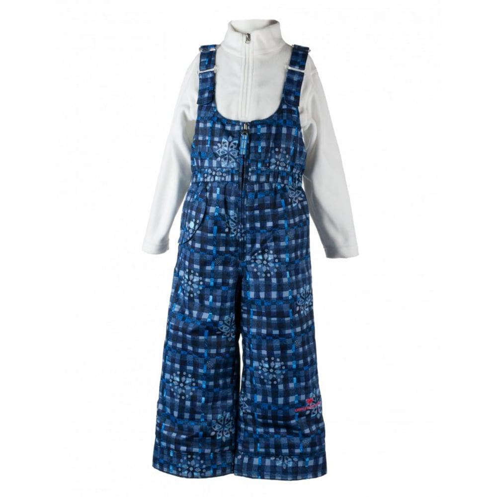 OBERMEYER Girls' Snoverall Print Snow Pants - EVERYDAY BLUES