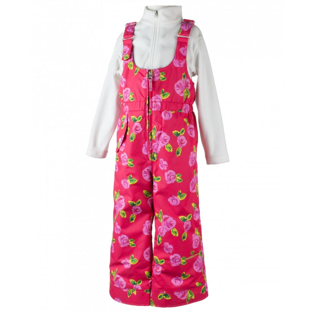 OBERMEYER Girls' Snoverall Print Snow Pants - IT'S SNOWING ROSES