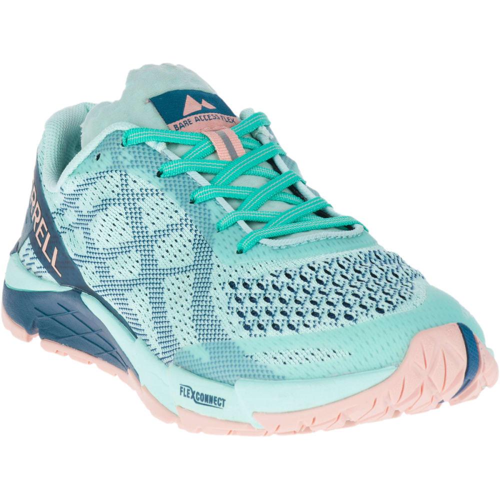 MERRELL Women's Bare Access Flex E-Mesh Trail Running Shoes - TURQUOISE