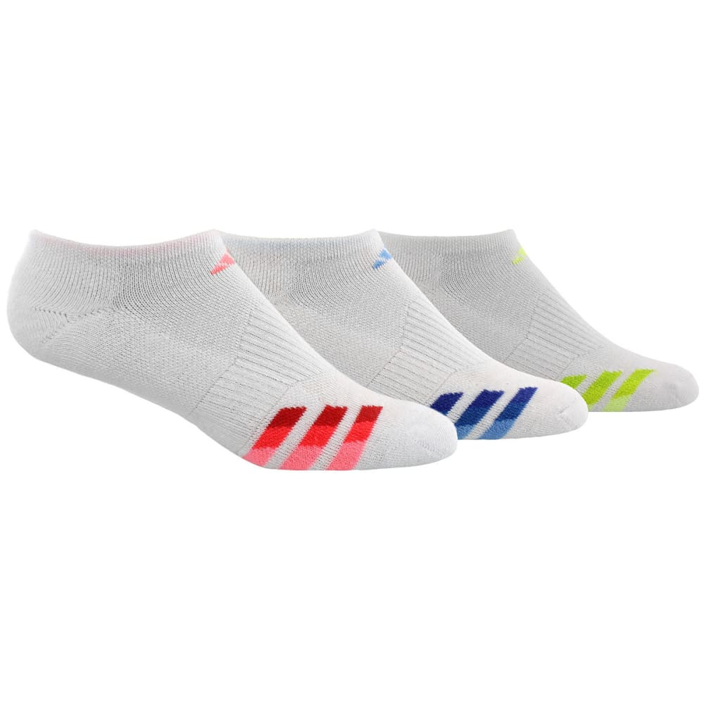 ADIDAS Women's Cushioned Variegated No-Show Socks, 3-Pack M