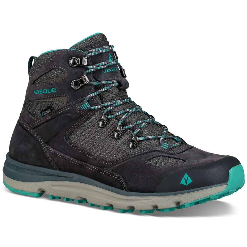 VASQUE Women's Mesa Trek UltraDry Waterproof Mid Hiking Boots - EBONY/BALTIC