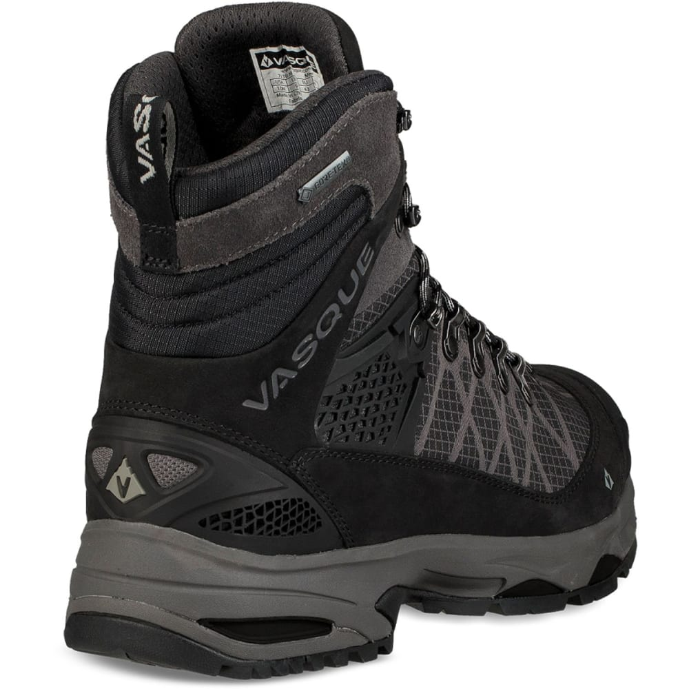 VASQUE Men's Saga GTX Waterproof Mid Backpacking Boots - JET BLACK