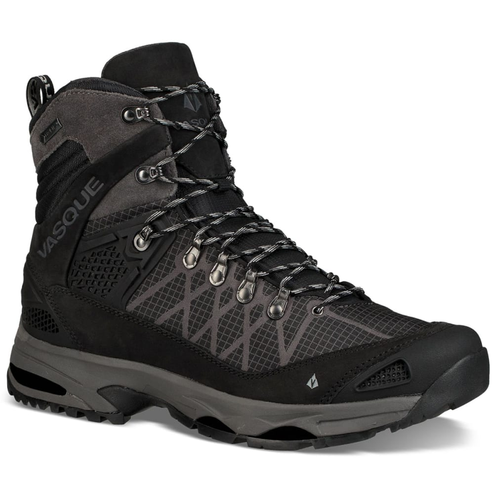 Vasque Men's Saga Gtx Waterproof Mid Backpacking Boots - Black