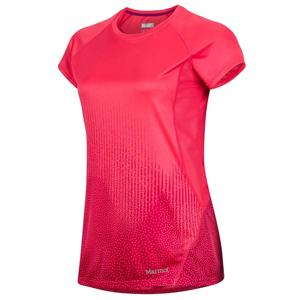 MARMOT Women's Crystal Short-Sleeve Shirt - 8846-HIBISCUS FONTAN