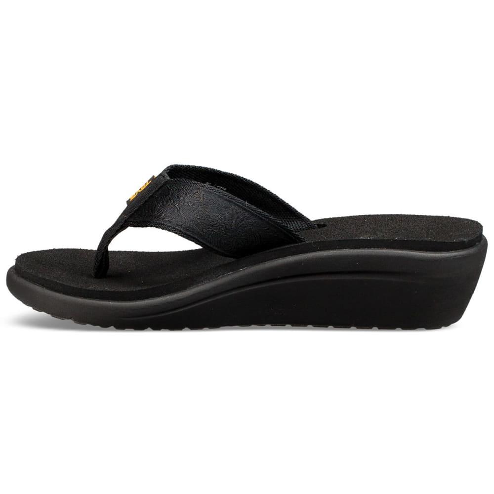 TEVA Women's Voya Wedge Sandals - BLACK