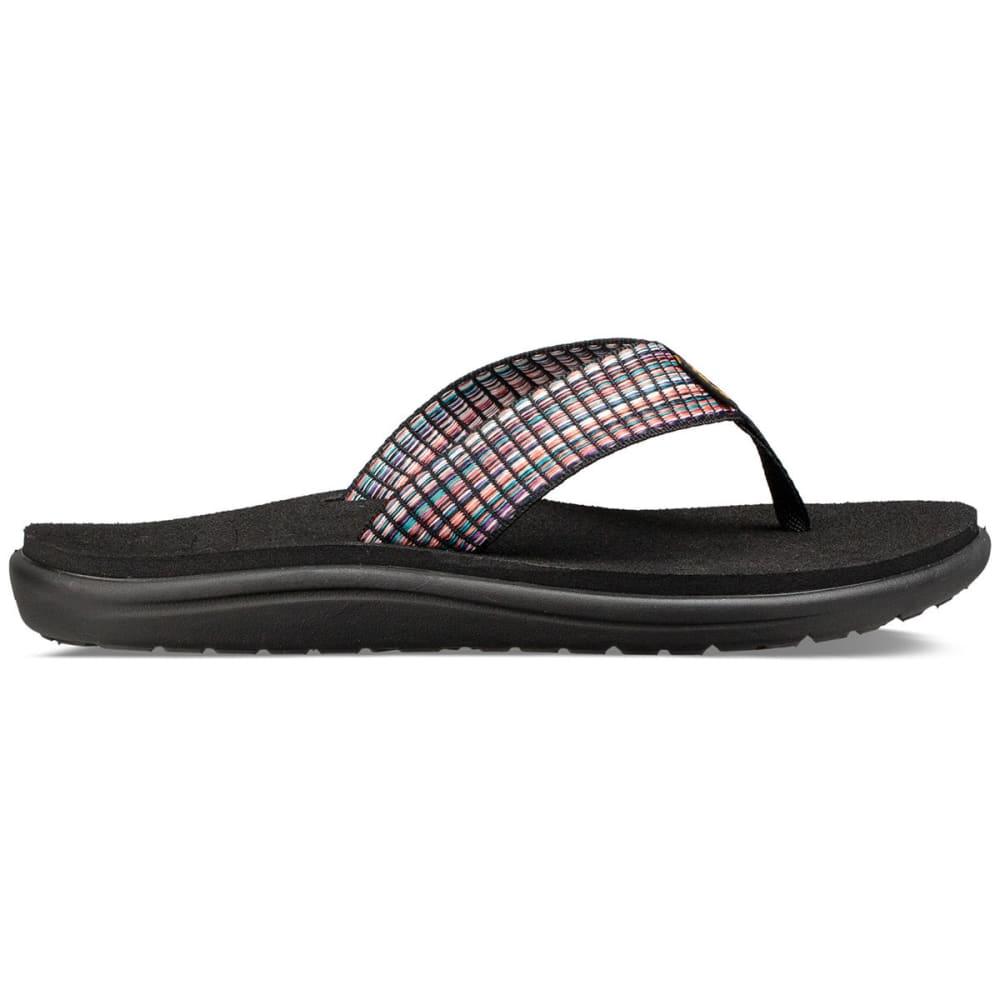 783fcd182 TEVA Women  39 s Voya Flip Sandals - BAR ST MUL BLK-BSMBL