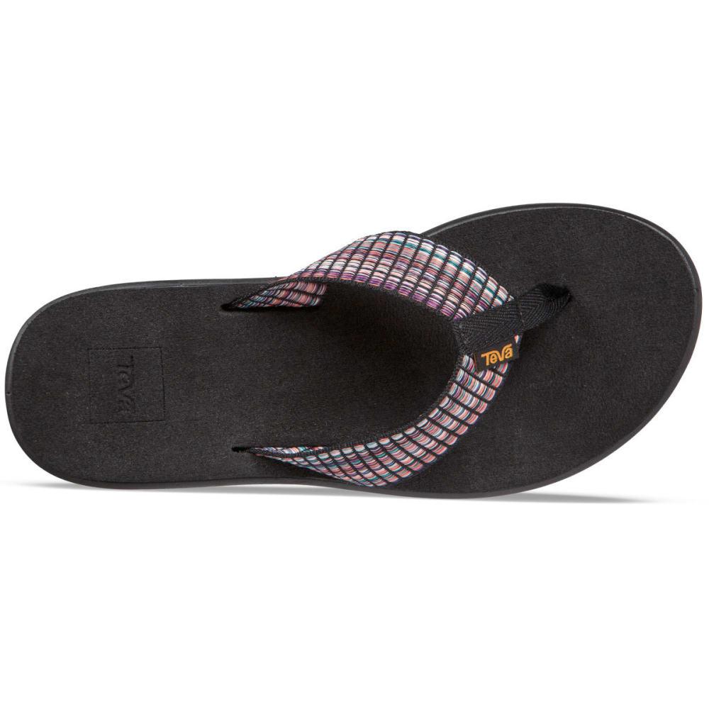 TEVA Women's Voya Flip Sandals - BAR ST MUL BLK-BSMBL