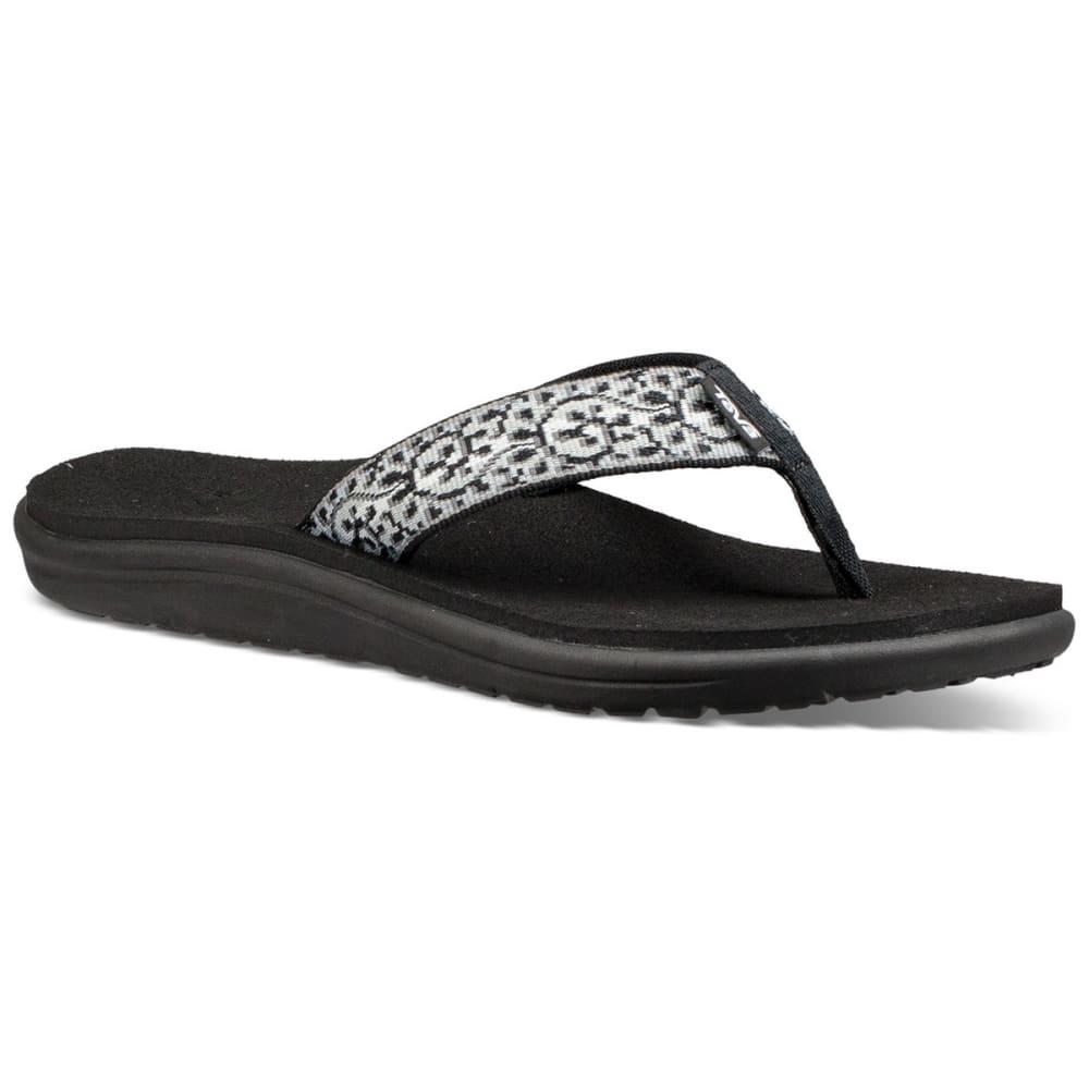 TEVA Women's Voya Flip Sandals - BLACK/WHITE-CBWT