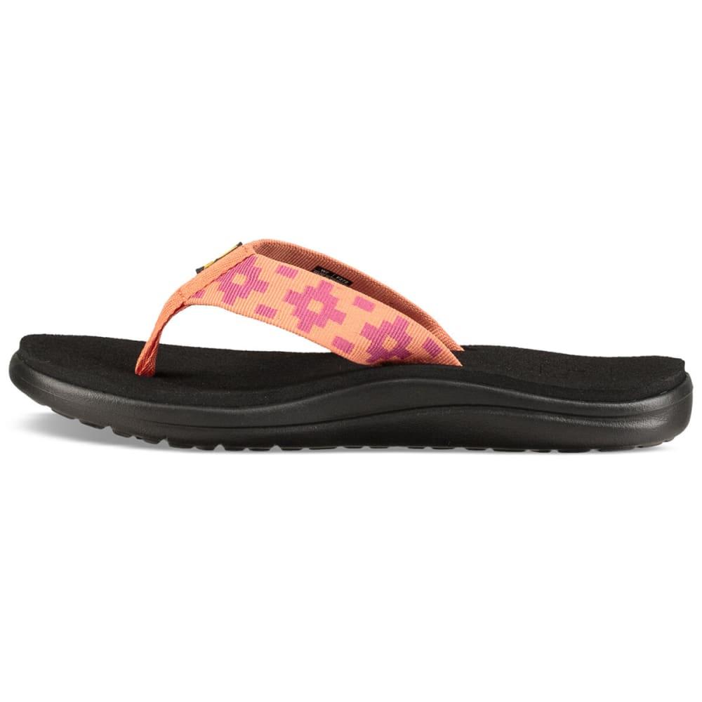 TEVA Women's Voya Flip Sandals - MAYA CHEK FLMNG-MCFM
