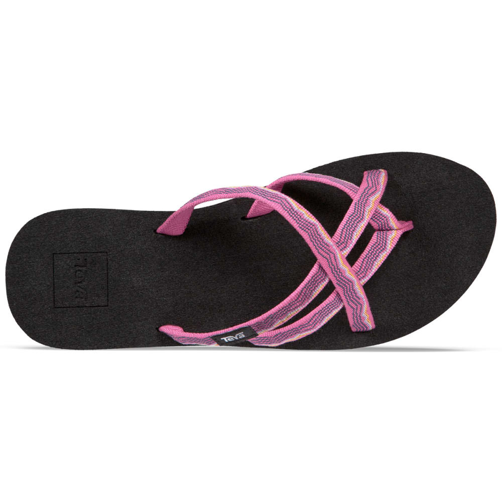 TEVA Women's Olowahu Slide Sandals - RASPBERRY
