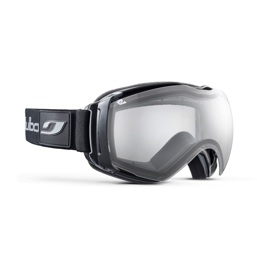 JULBO Airflux Goggles, Black/Black - Double Lens Cat. 0 - BLACK/BLACK